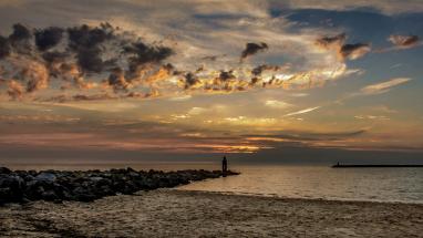 Ouddorp the Netherlands sunset photo