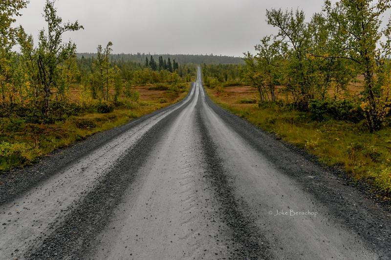 De weg onverharde weg naar Fagernes