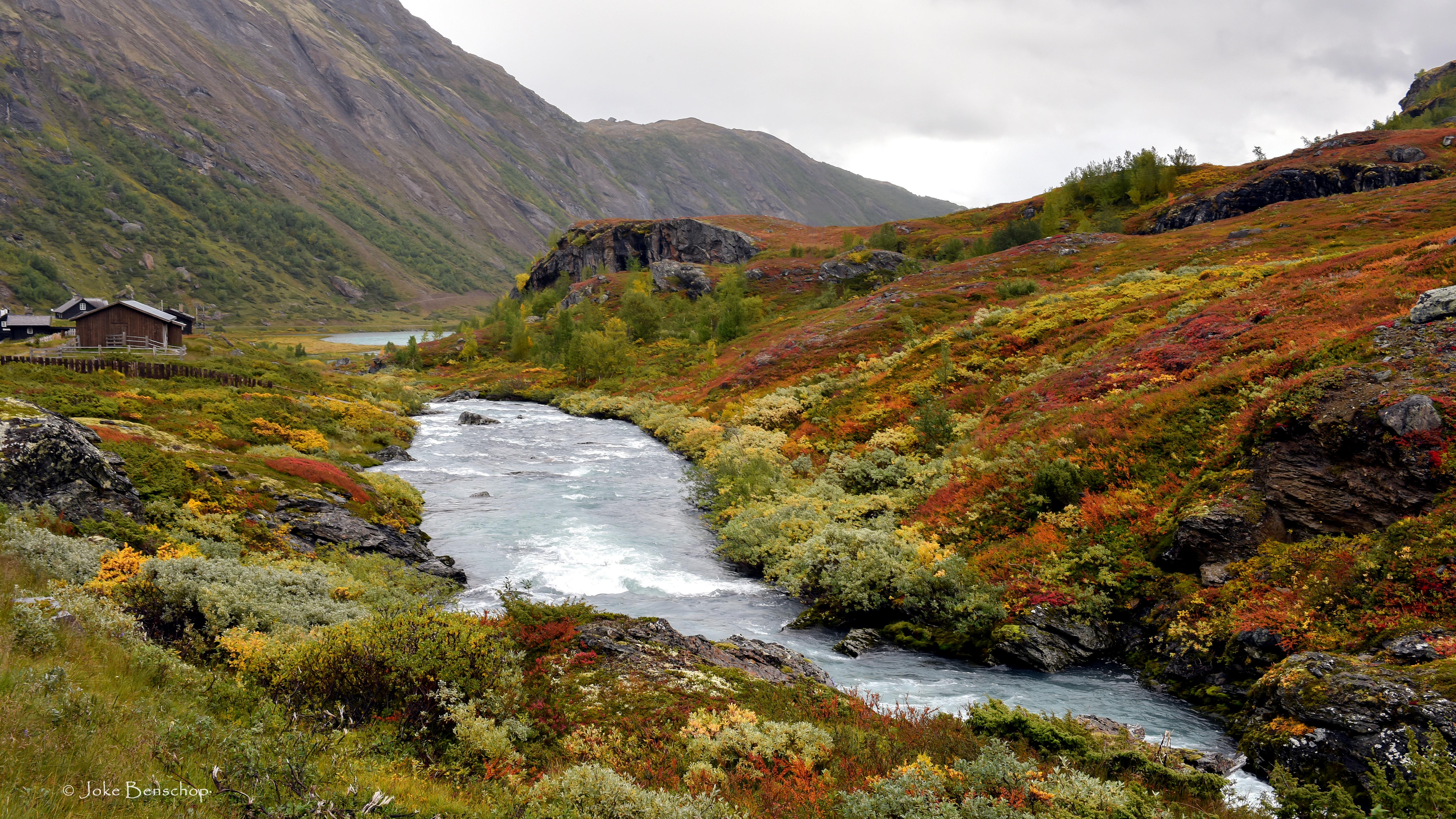 Een achtertuin in Noorwegen