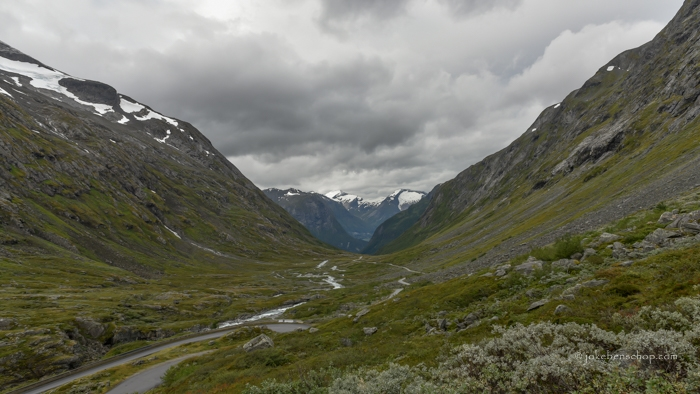Panorama uitzicht over de bergen.
