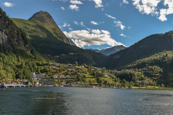 Geiranger vanaf het fjord