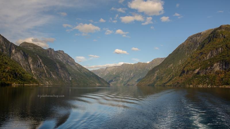 Laatste blik over het Geirangerfjord