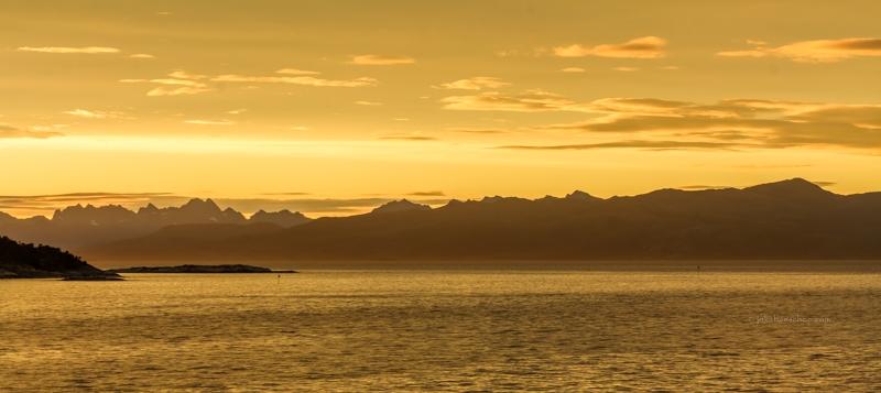 Zonsondergang Lofoten