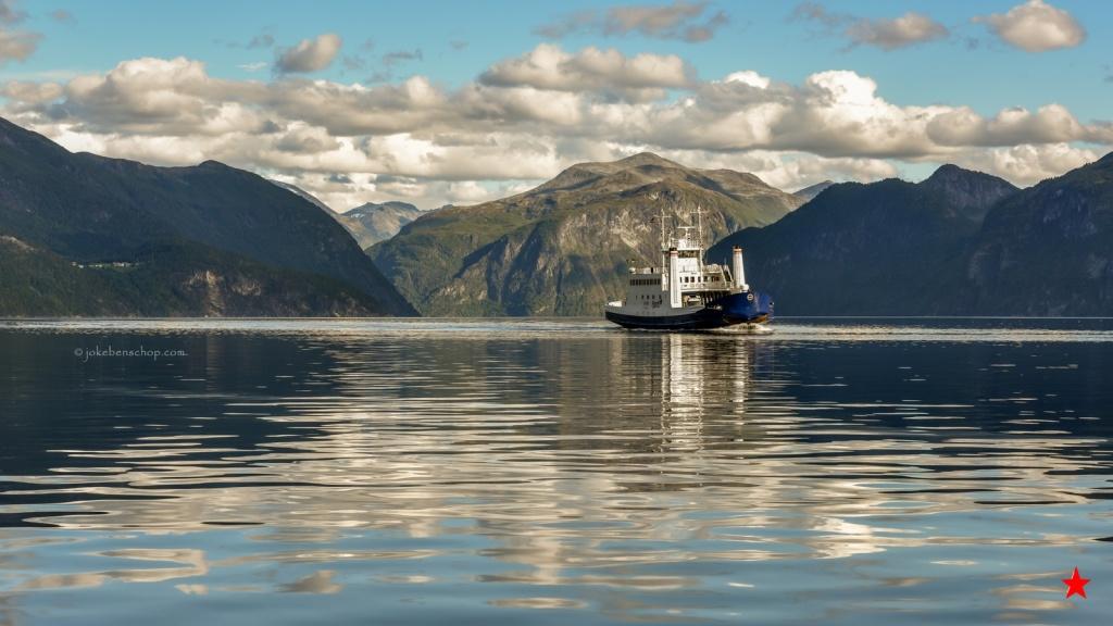 Veerboot op het Geirangerfjord