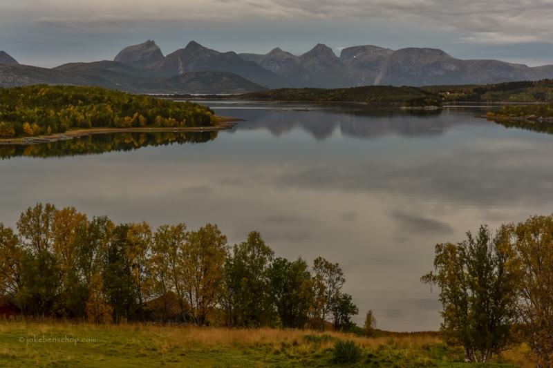 Vergezicht naar Lofoten
