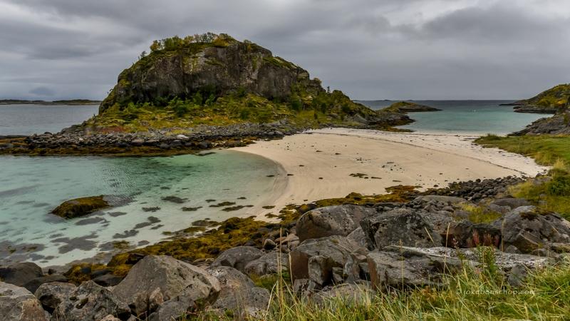 Tropische zandstrand Noorwegen