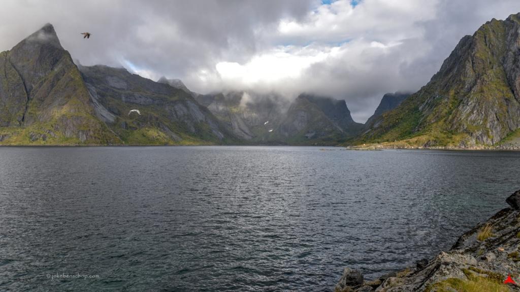 Blik op het fjord