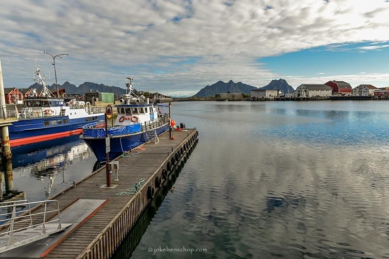 De haven van Svolvær Lofoten
