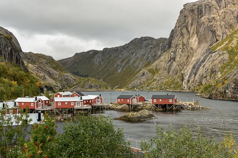 Nusfjord een klein vissersdorpje