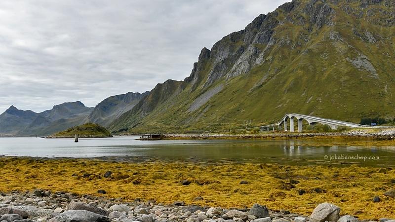 Verbindingsbrug op de Lofoten