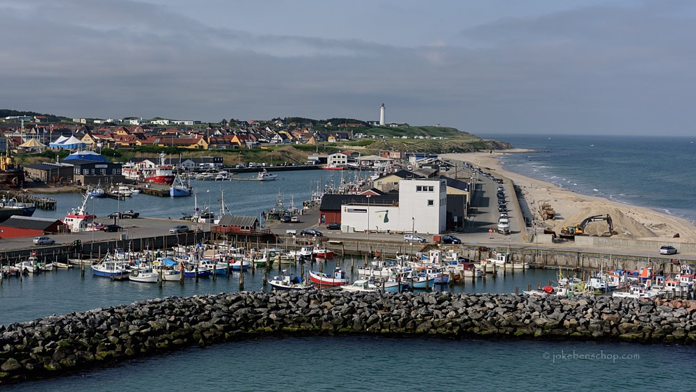Hirtshals haven Denemarken