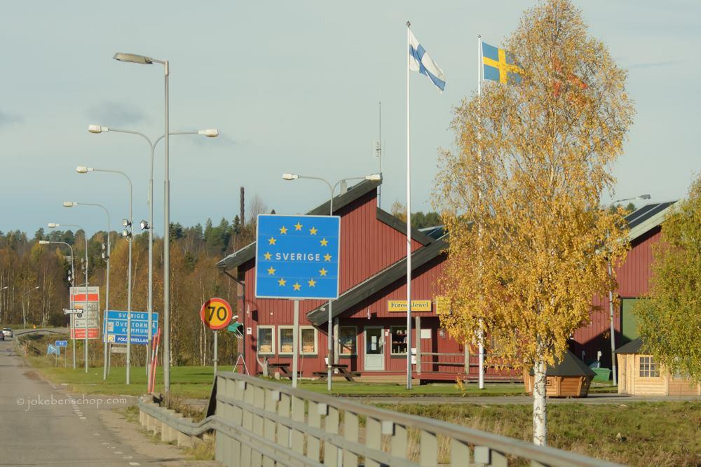 Zweedse grens bij Övertorneå