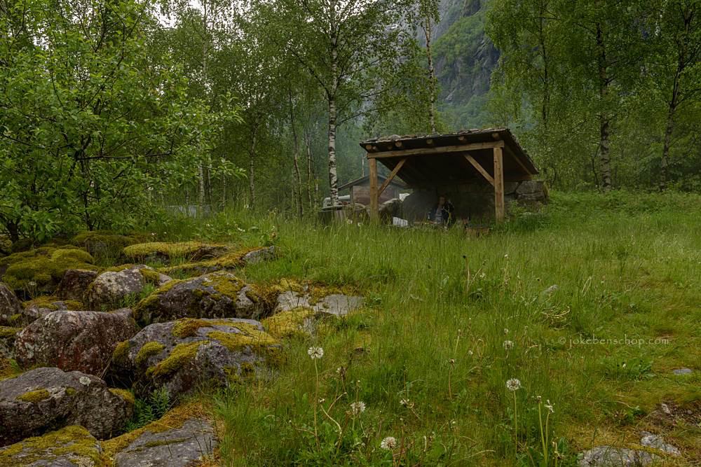 BBQ bij Eidfjord Noorwegen