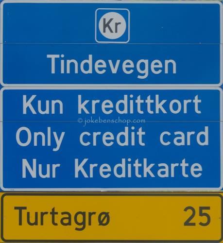 Bord in Øvre Årdal aan het begin van de Tindevegen