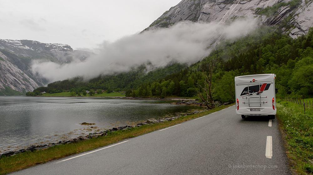 Doodlopend weggetje in Eidfjord