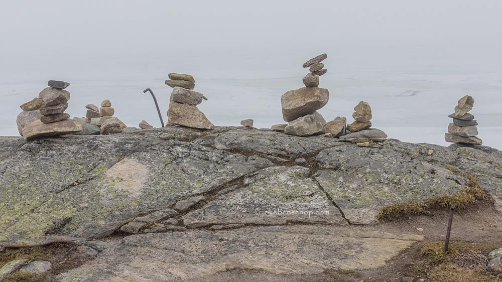 """De """"ik was hier"""" stapeltjes stenen kom je echt overal tegen"""