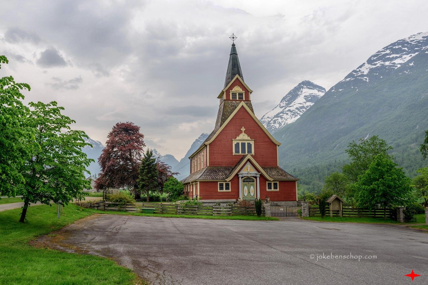 Kerkje in Olden Noorwegen