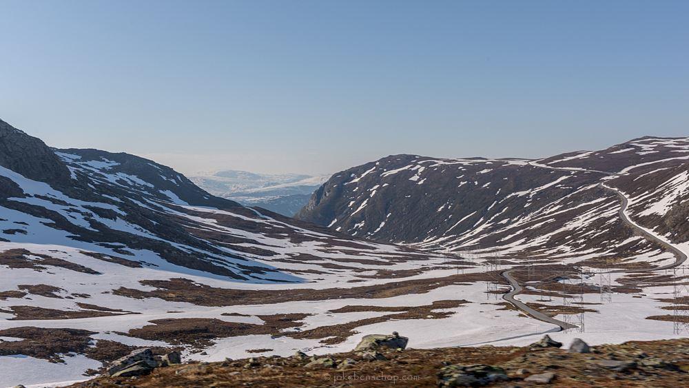 Uitzicht naar het Noorden op de Tindevegen