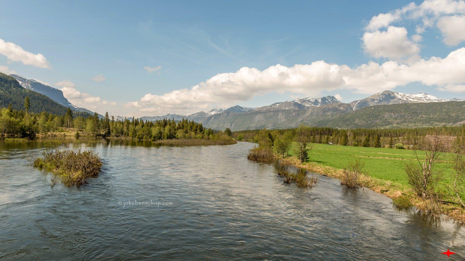 De rivier bij Hemsedal