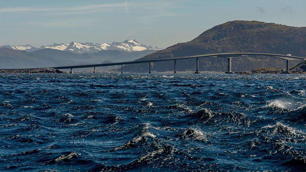 de brug van Runde Norway