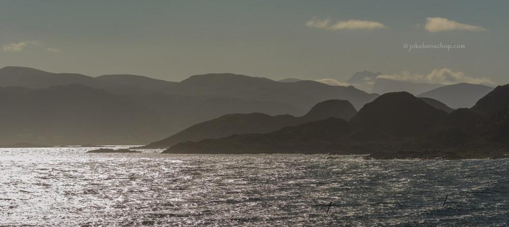 de Noorse kust vanaf Runde