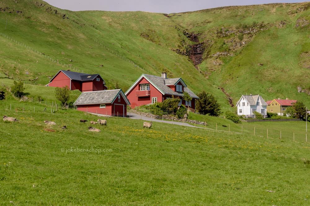 Ook huizen op Runde Noorwegen