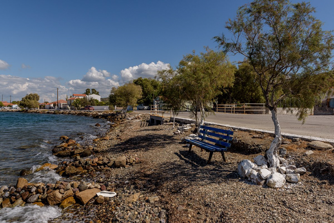 Boulevard in Nifida Lesbos Greece