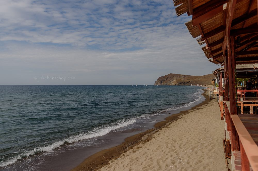 Smal strand Skala Eressos