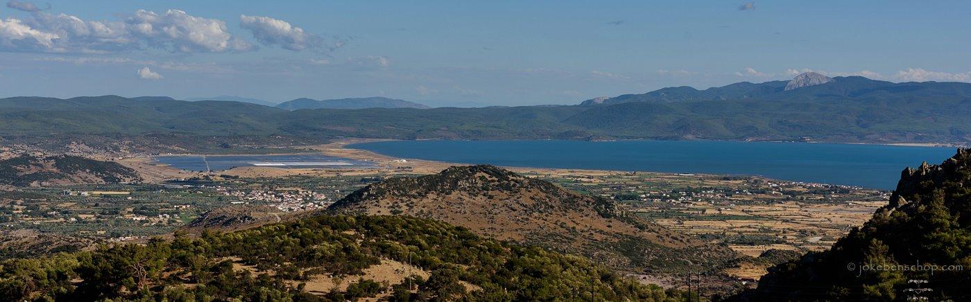 Uitzicht over Kalloni baai