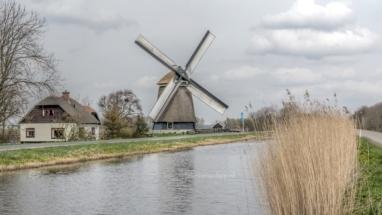 Windmill St Maartensbrug the Netherlands