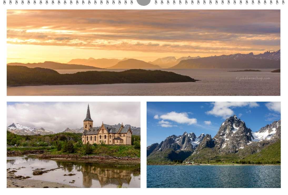 Midsummernacht Noorwegen donkerder wordt het niet, Houten Kathedraal op de Lofoten, Op weg met de boot naar Trolfjord Noorwegen