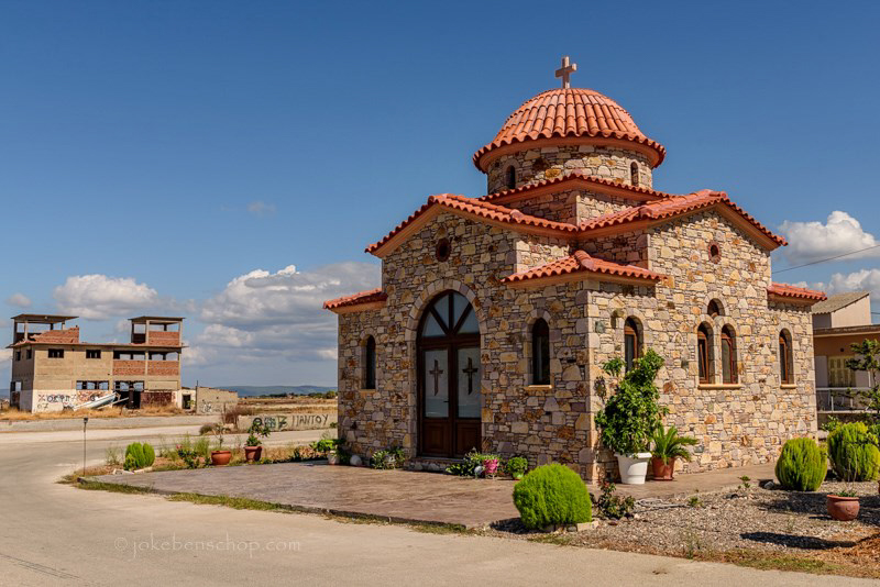 Church of Skala Polichnitou Lesbos Greece