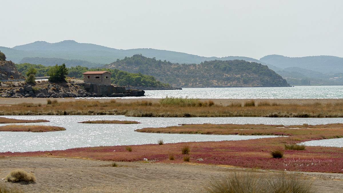 de wetlands nabij Achladeri