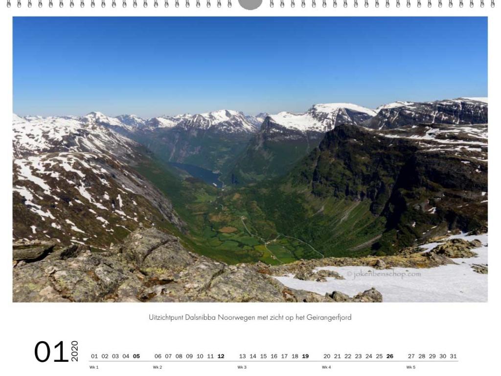 Dalsnibba uitzichtpunt Noorwegen