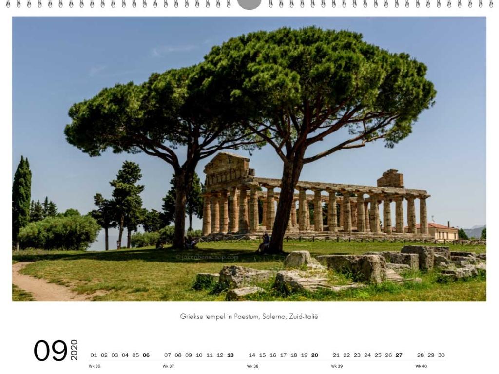 Griekse tempel in Paestum Salerlo Zuid-Italie